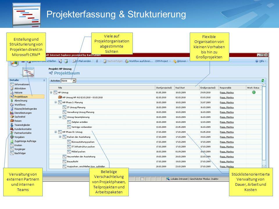Projekterfassung & Strukturierung