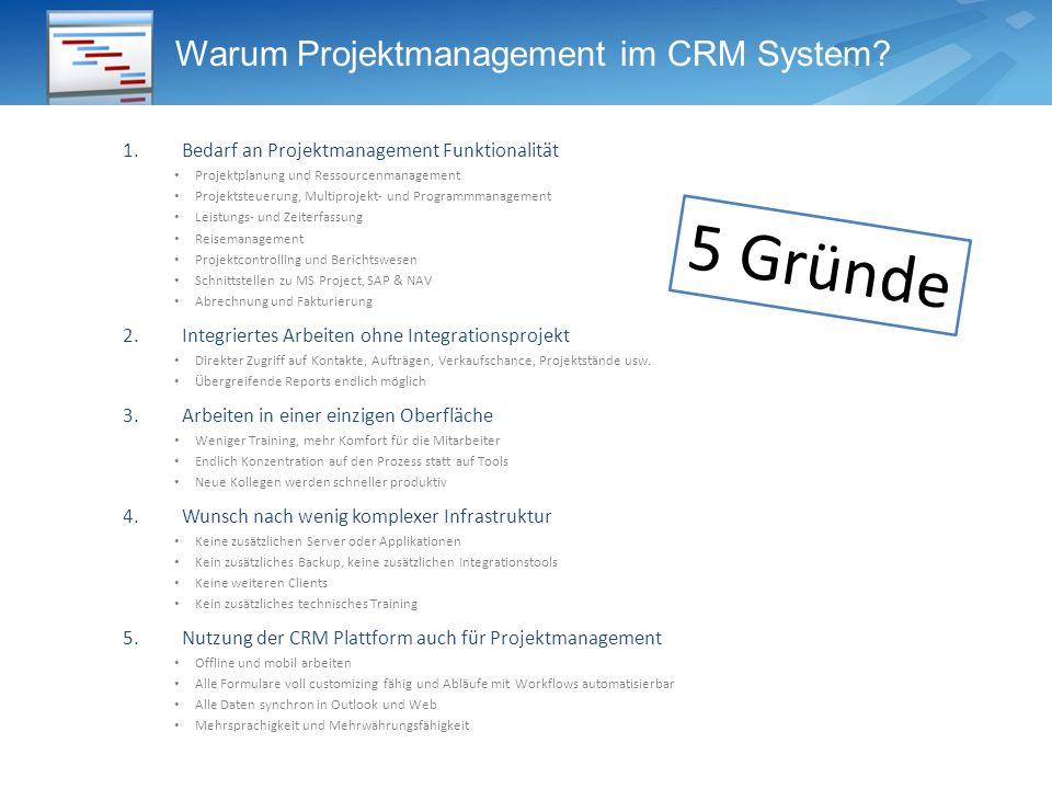 Warum Projektmanagement im CRM System