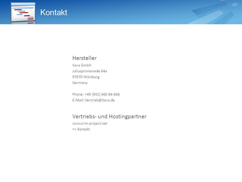 Kontakt Hersteller Vertriebs- und Hostingpartner itara GmbH