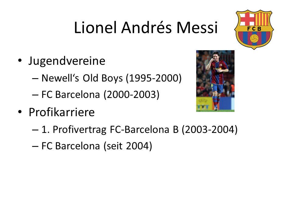 Lionel Andrés Messi Jugendvereine Profikarriere