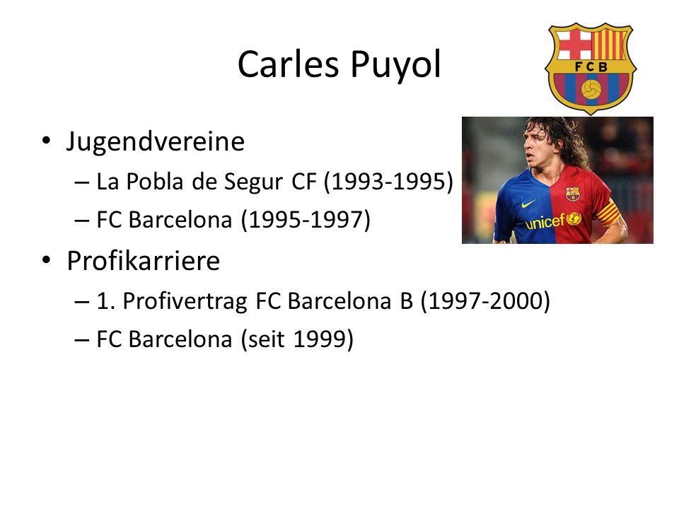 Carles Puyol Jugendvereine Profikarriere