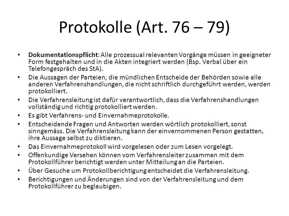 Protokolle (Art. 76 – 79)