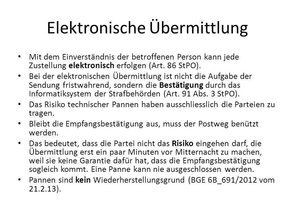 Elektronische Übermittlung