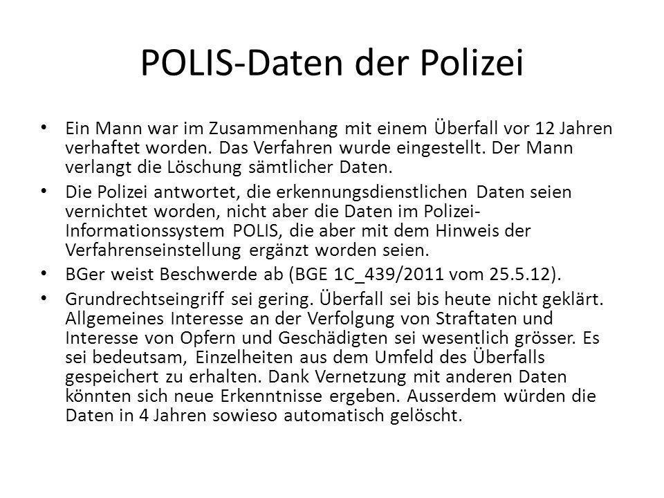 POLIS-Daten der Polizei