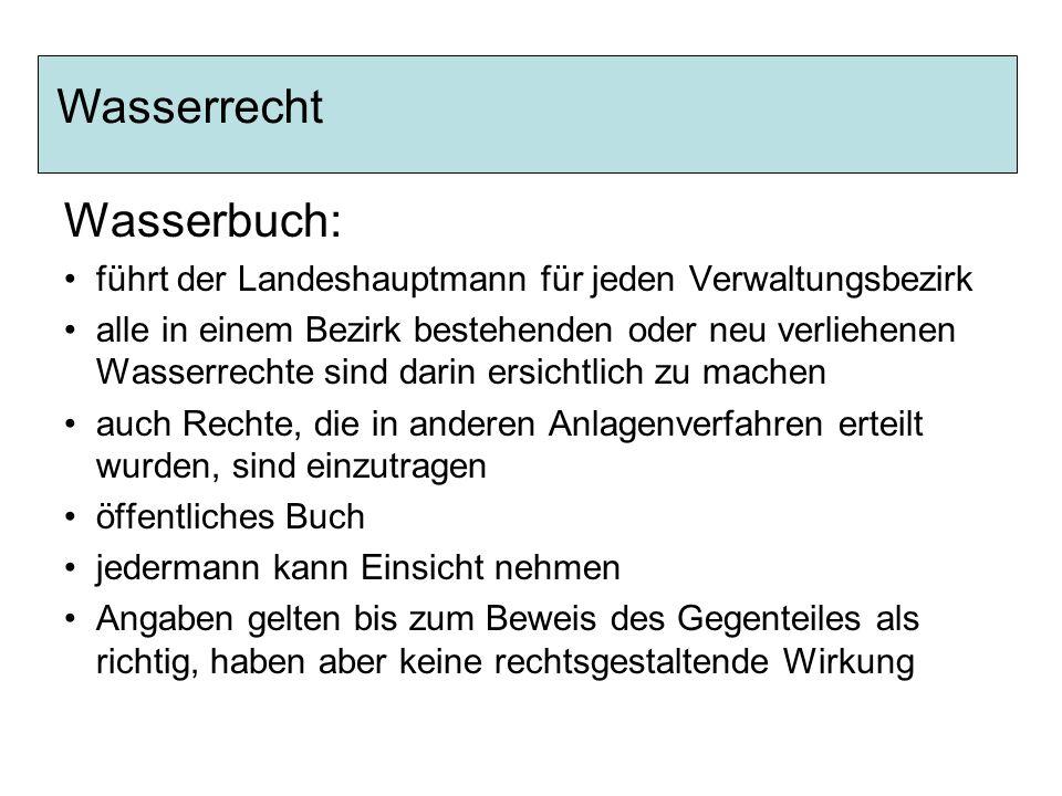 Wasserrecht Wasserbuch: