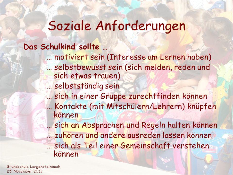 Soziale Anforderungen