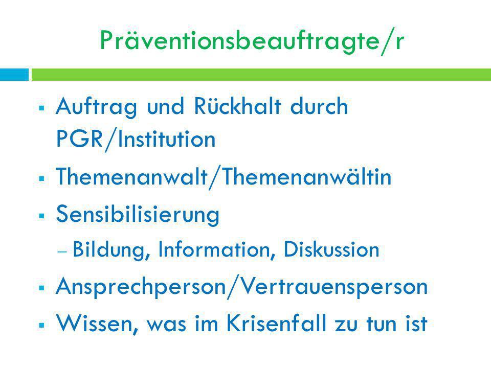 Präventionsbeauftragte/r