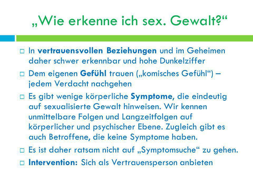 """""""Wie erkenne ich sex. Gewalt"""