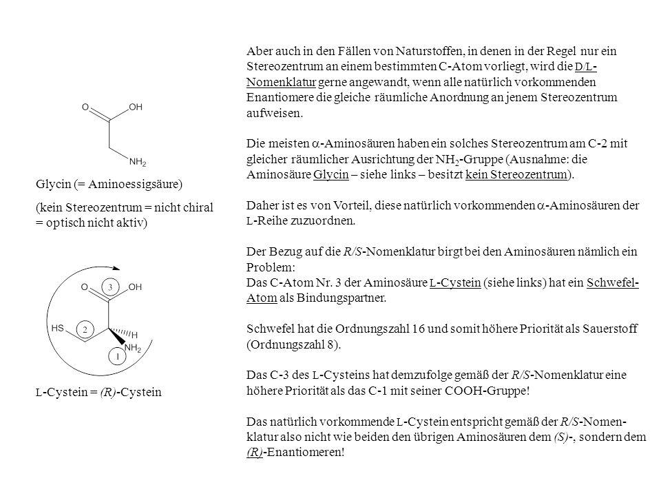 Glycin (= Aminoessigsäure)