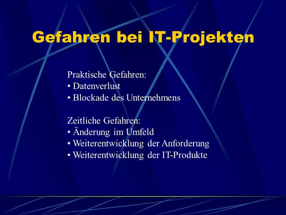 Gefahren bei IT-Projekten