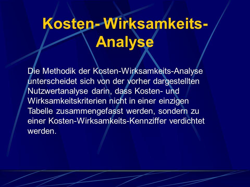 Kosten- Wirksamkeits-Analyse