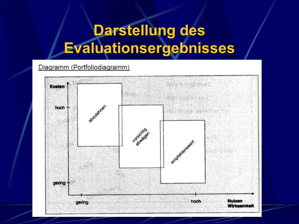 Darstellung des Evaluationsergebnisses