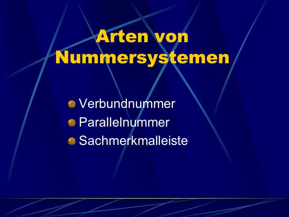 Arten von Nummersystemen