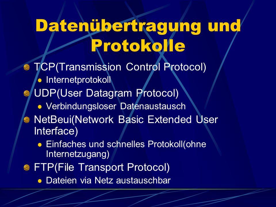 Datenübertragung und Protokolle