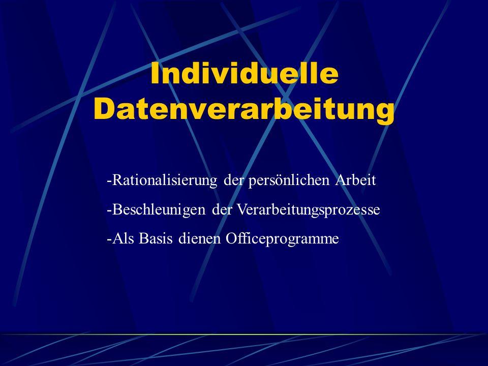 Individuelle Datenverarbeitung