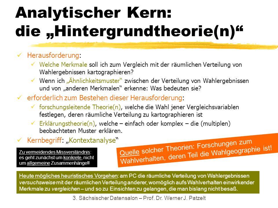 """Analytischer Kern: die """"Hintergrundtheorie(n)"""