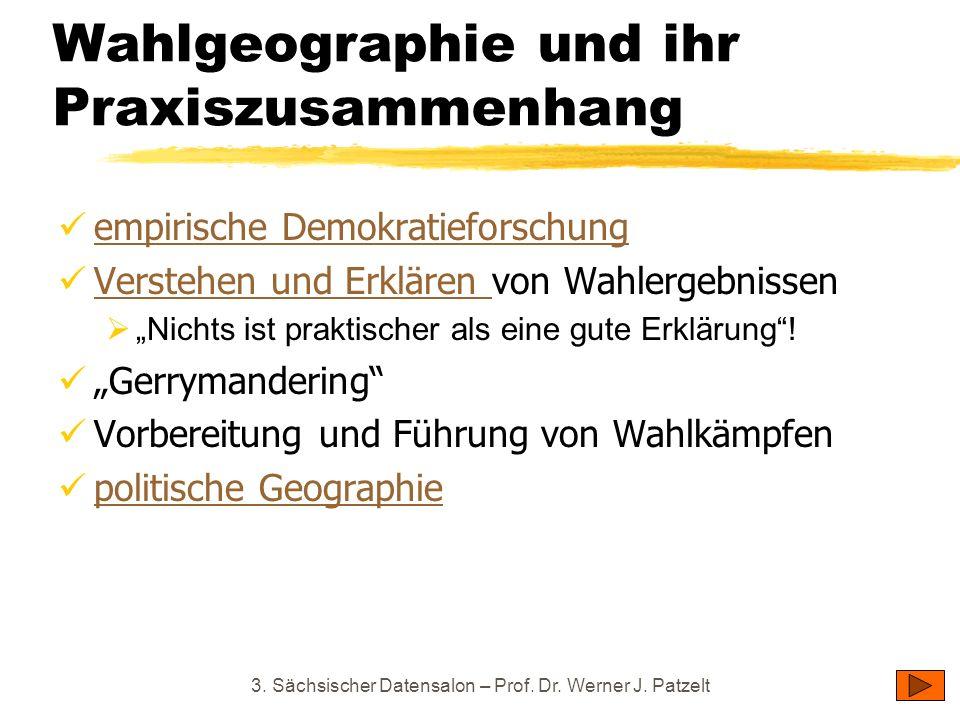 Wahlgeographie und ihr Praxiszusammenhang