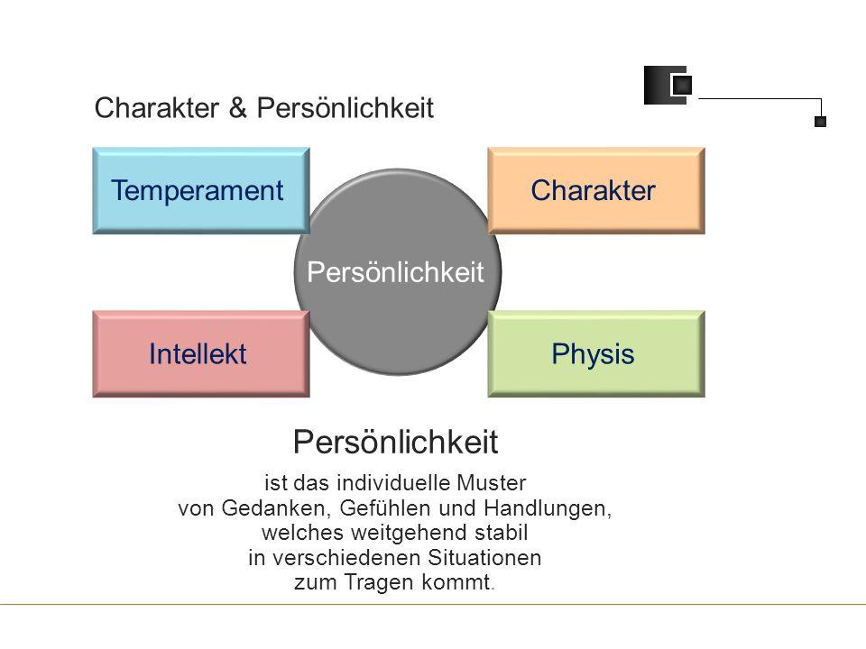 Persönlichkeit Charakter & Persönlichkeit Temperament Charakter