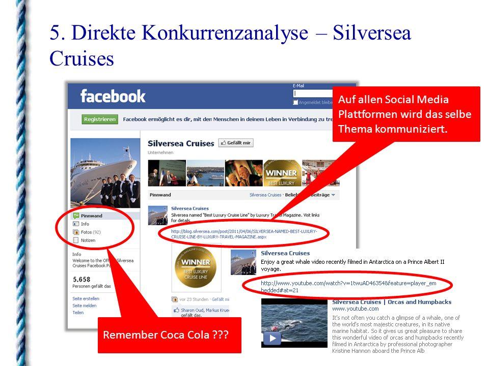 5. Direkte Konkurrenzanalyse – Silversea Cruises