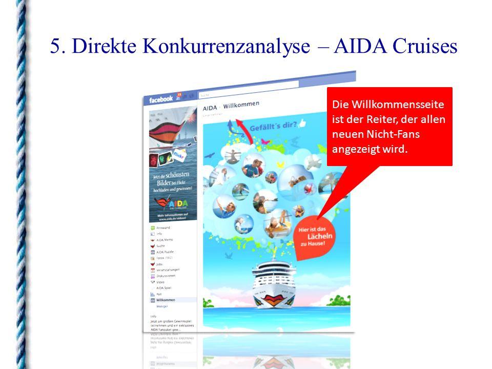 5. Direkte Konkurrenzanalyse – AIDA Cruises