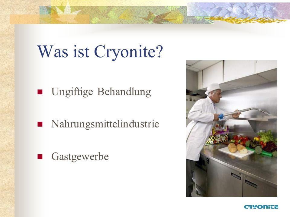 Was ist Cryonite Ungiftige Behandlung Nahrungsmittelindustrie