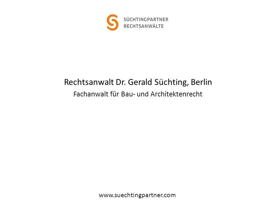 Rechtsanwalt Dr. Gerald Süchting, Berlin
