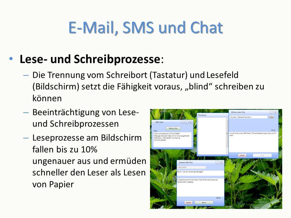 E-Mail, SMS und Chat Lese- und Schreibprozesse: