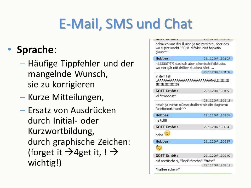 E-Mail, SMS und Chat Sprache: