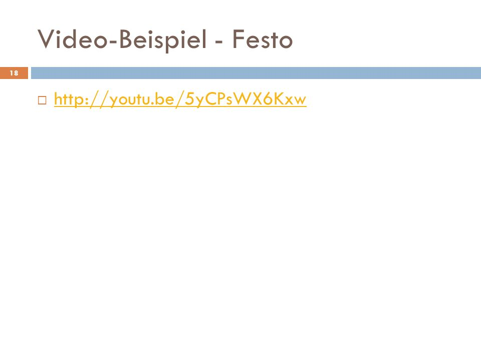 Video-Beispiel - Festo