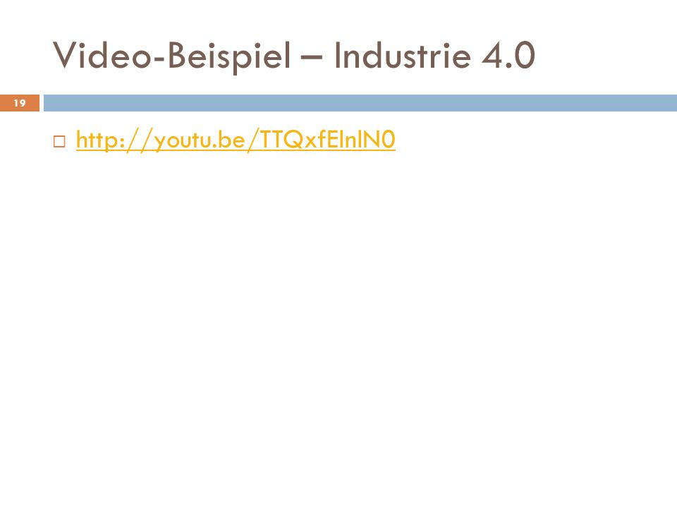 Video-Beispiel – Industrie 4.0
