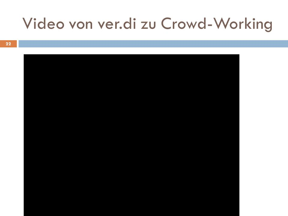 Video von ver.di zu Crowd-Working