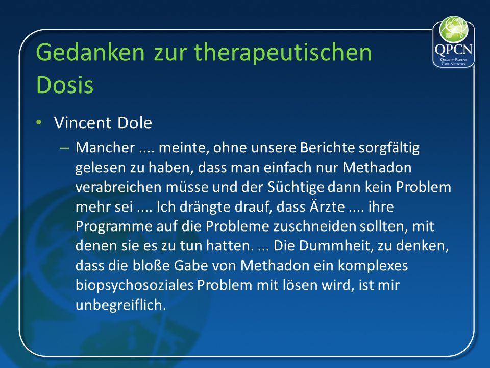 Gedanken zur therapeutischen Dosis