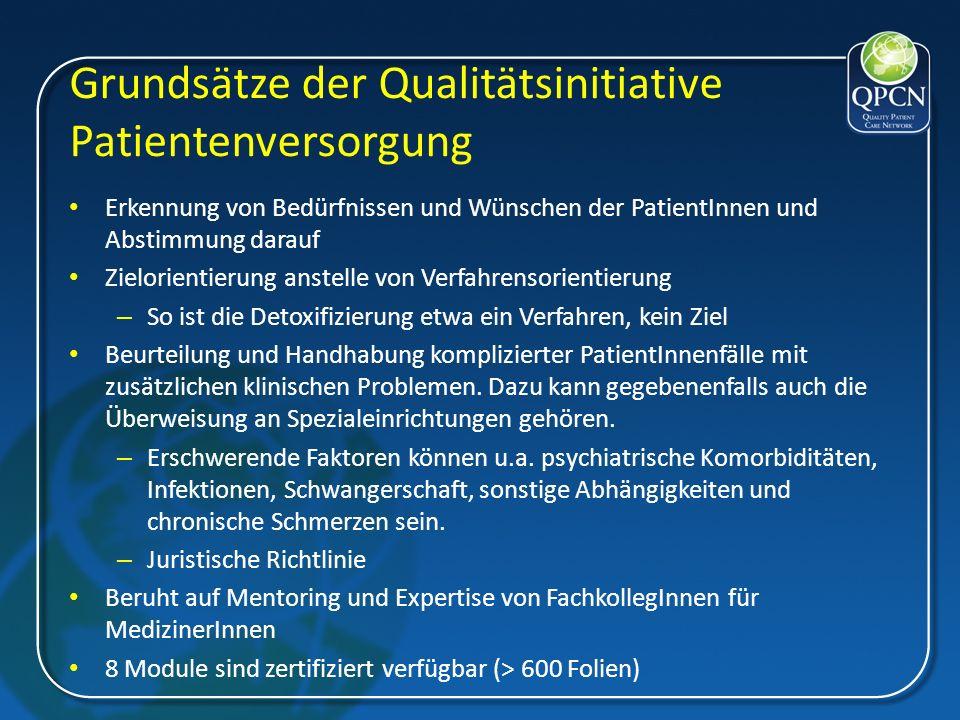 Grundsätze der Qualitätsinitiative Patientenversorgung