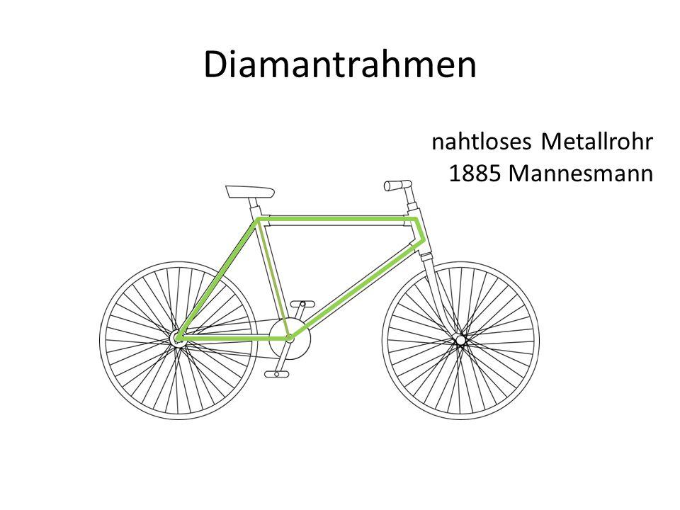 Diamantrahmen nahtloses Metallrohr 1885 Mannesmann
