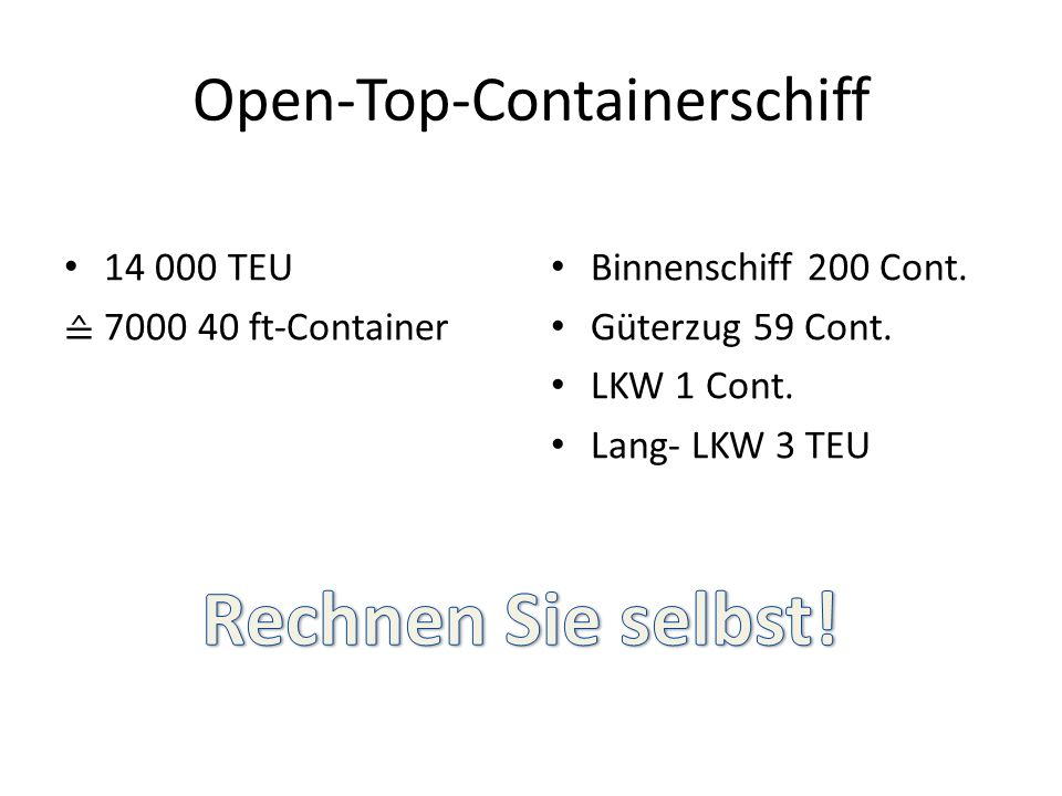 Open-Top-Containerschiff