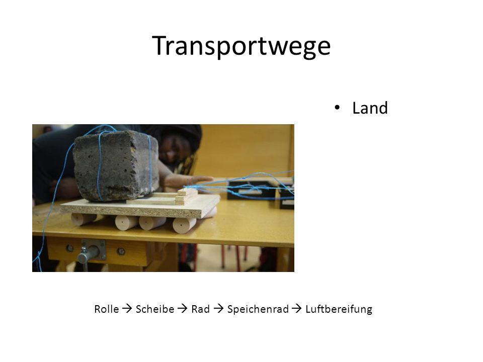 Transportwege Land Rolle  Scheibe  Rad  Speichenrad  Luftbereifung
