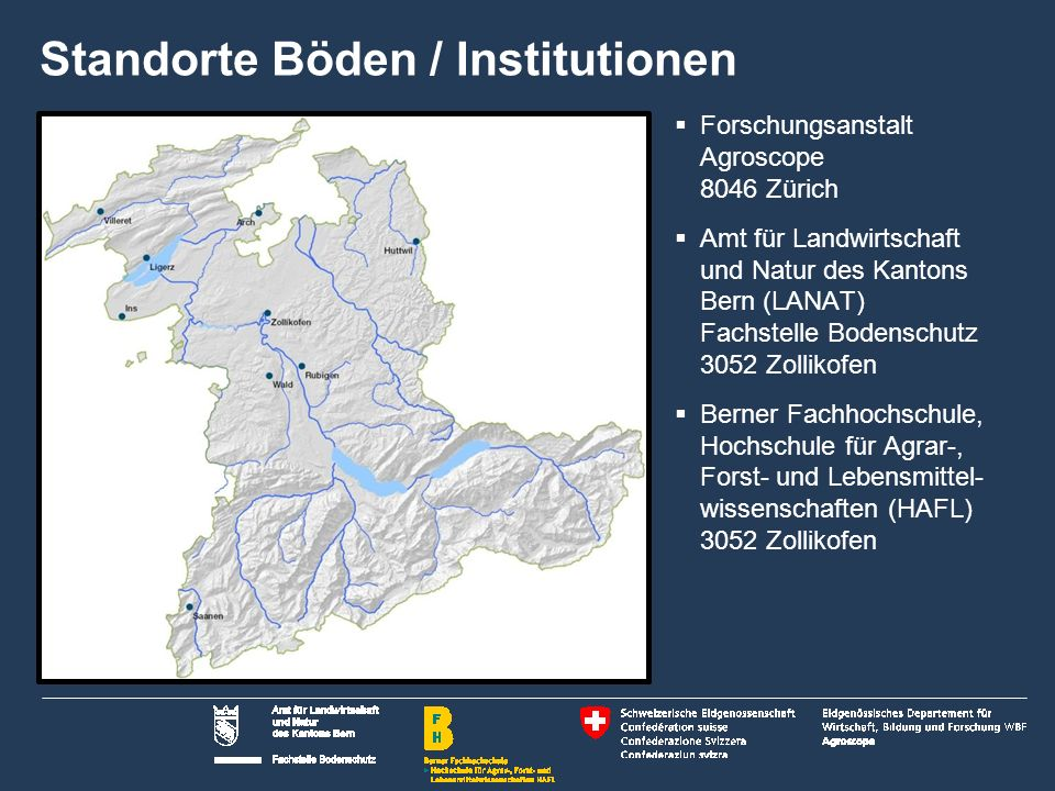 Standorte Böden / Institutionen