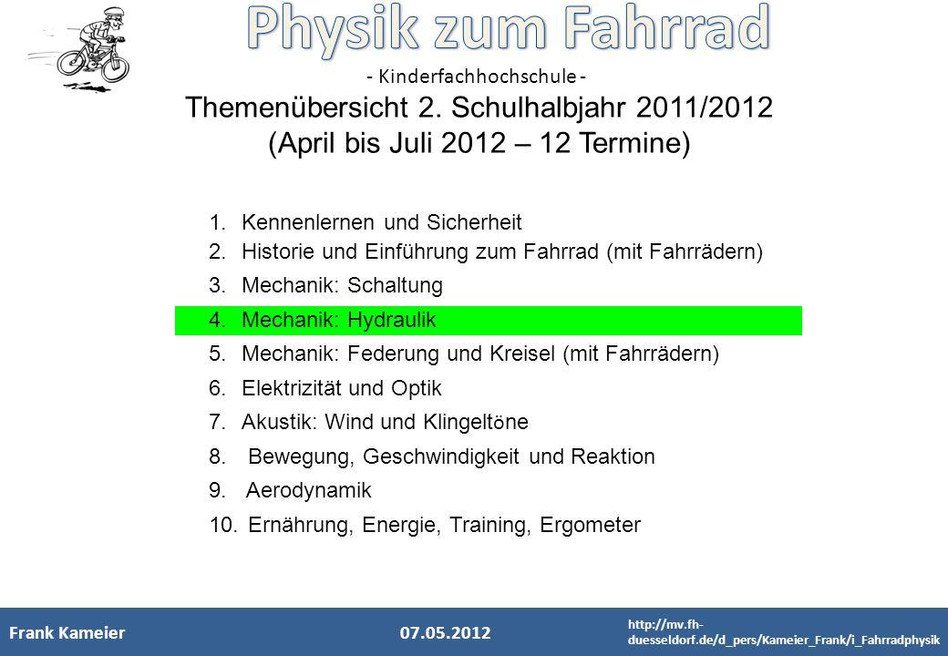 Themenübersicht 2. Schulhalbjahr 2011/2012