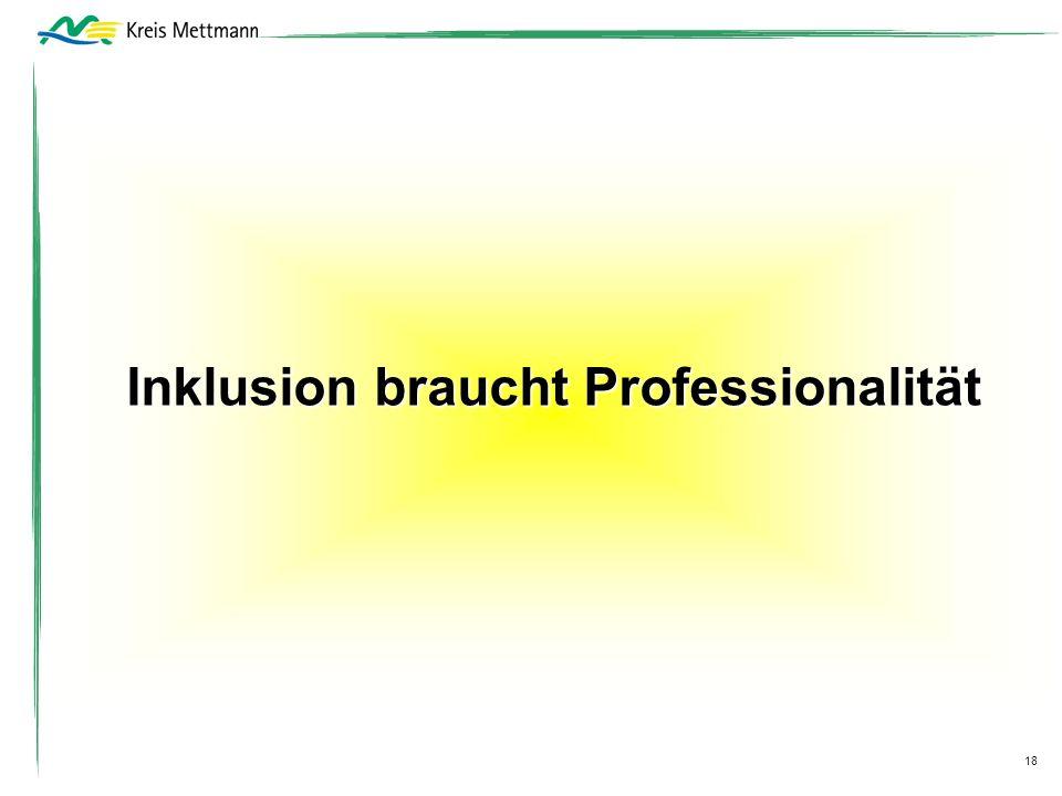 Inklusion braucht Professionalität