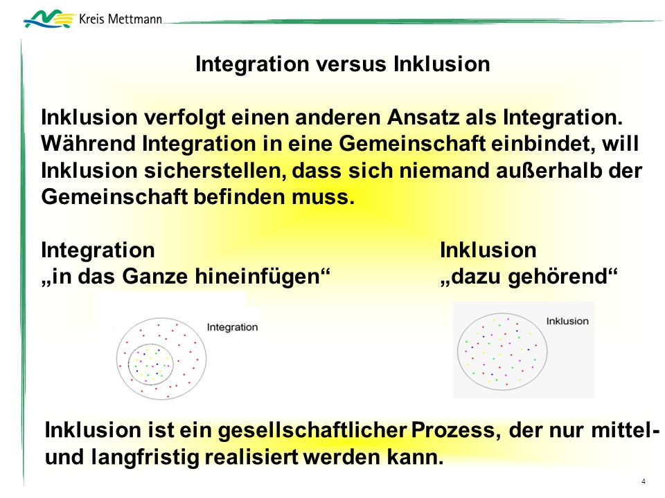 Integration versus Inklusion