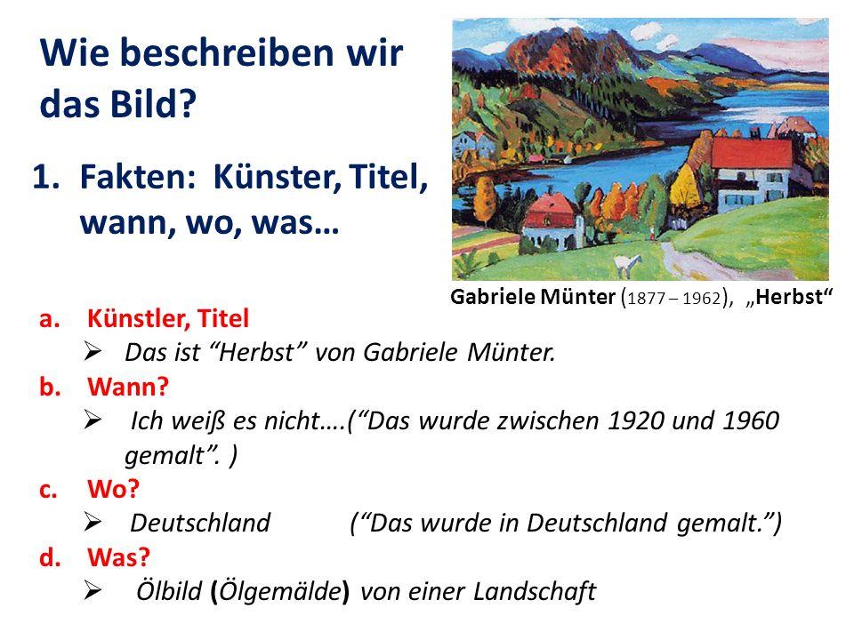 """Gabriele Münter (1877 – 1962), """"Herbst"""