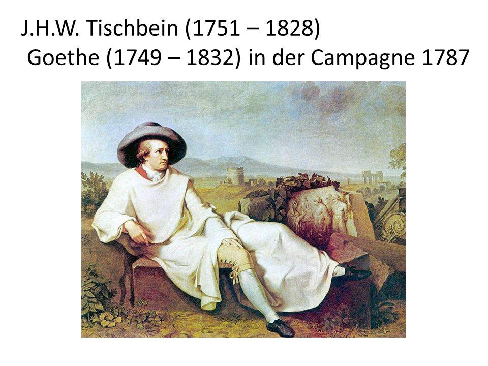 Goethe (1749 – 1832) in der Campagne 1787
