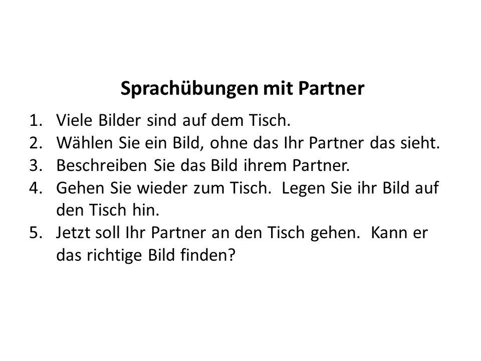 Sprachübungen mit Partner