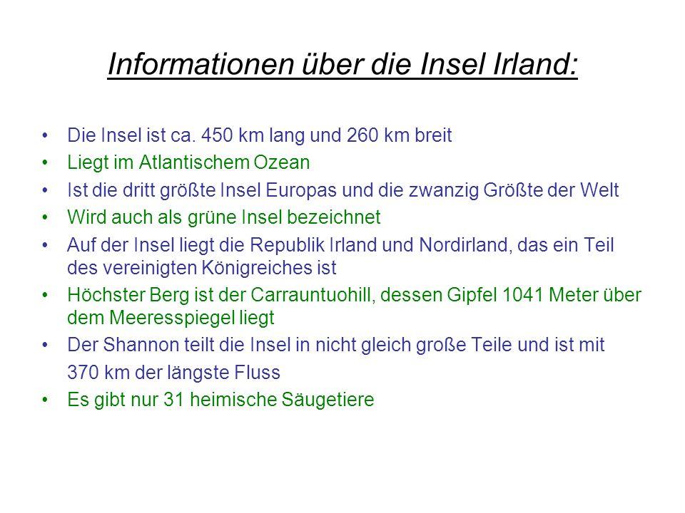 Informationen über die Insel Irland: