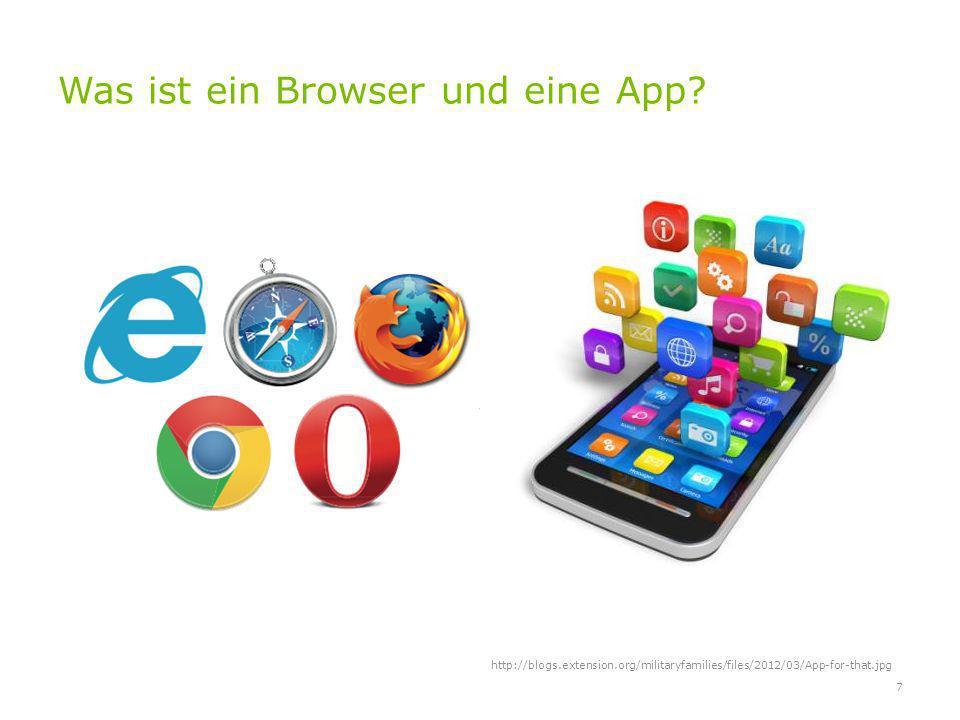 Was ist ein Browser und eine App