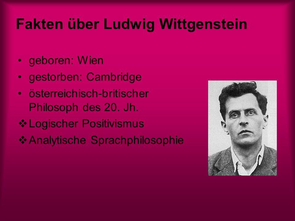 Fakten über Ludwig Wittgenstein