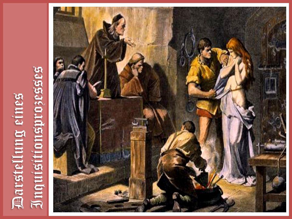 Darstellung eines Inquisitionsprozesses