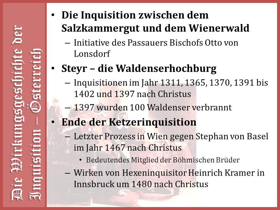 Die Wirkungsgeschichte der Inquisition – Österreich