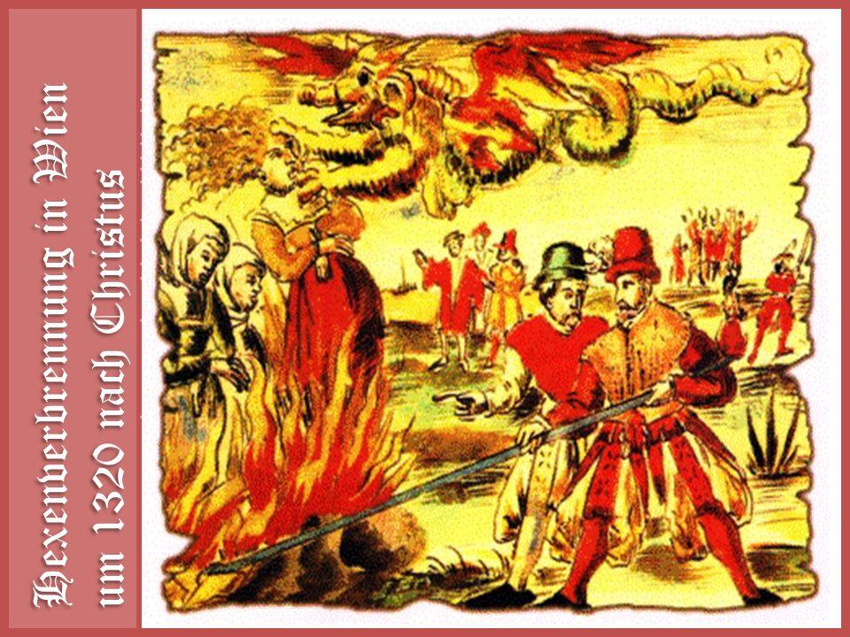 Hexenverbrennung in Wien um 1320 nach Christus