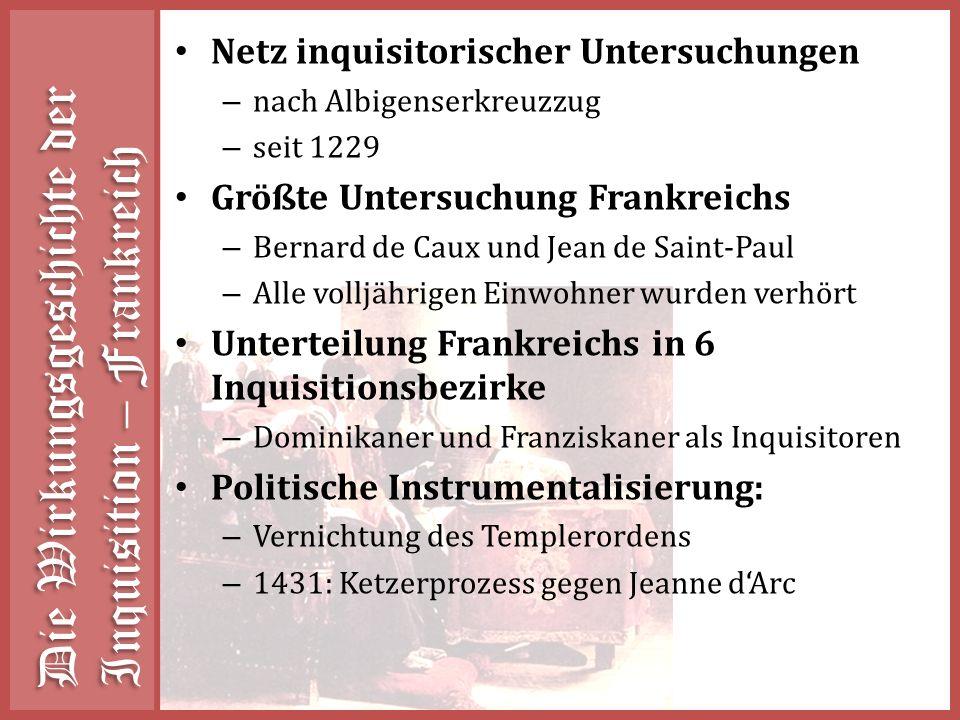 Die Wirkungsgeschichte der Inquisition – Frankreich